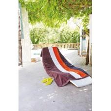 KARIBAN VELOUR STRIPED BEACH TOWEL